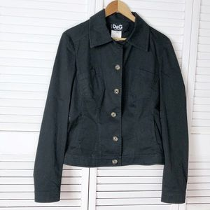 D&G Black twill utility jacket